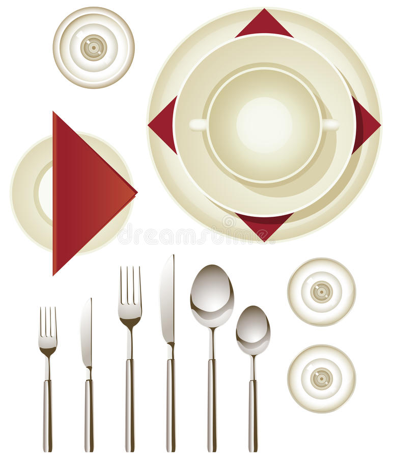 Download Dinnerware stock vector. Illustration of fork, goblet - 26271752