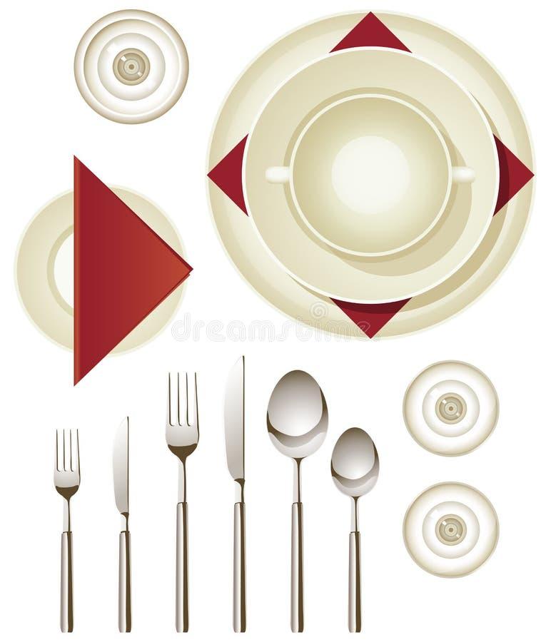 Dinnerware ilustracja wektor