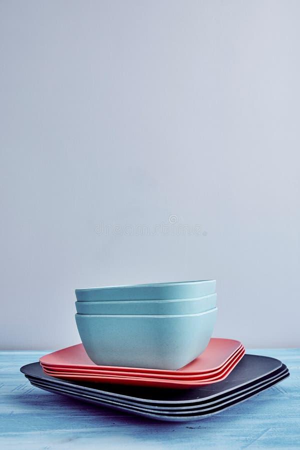 dinnerware stock foto's