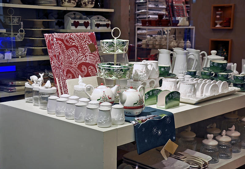 Dinnerware shop stock images