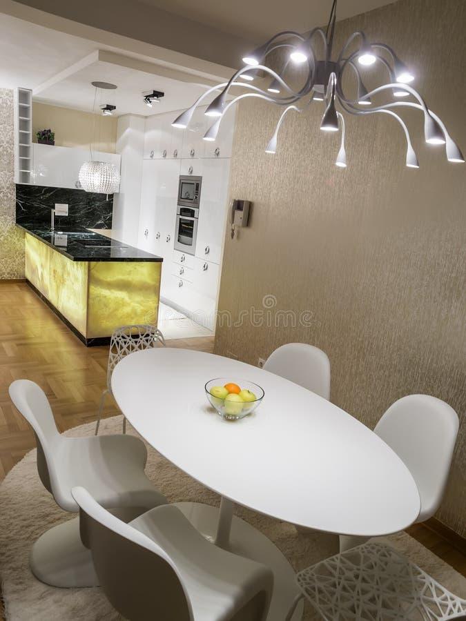 dinning的厨房空间 库存照片