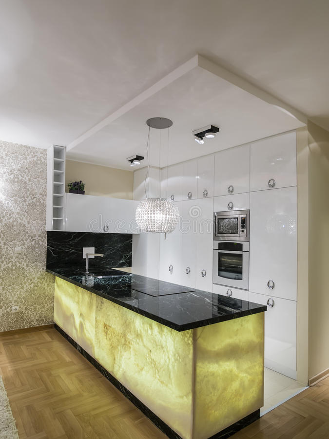 dinning的厨房空间 免版税库存图片