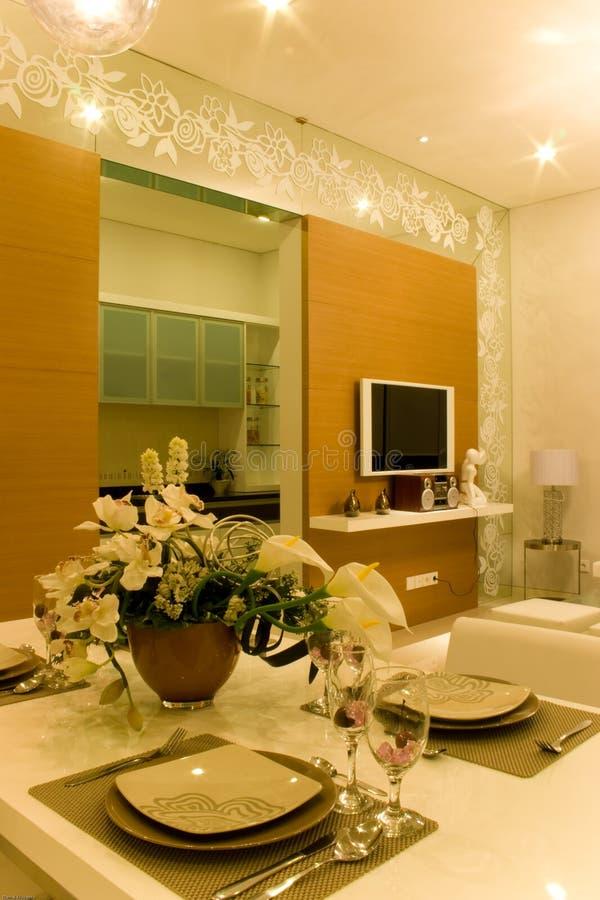 dinning elegant room στοκ φωτογραφία