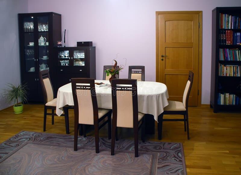 Download Dinning room stock photo. Image of velvet, wood, shelf - 3351408