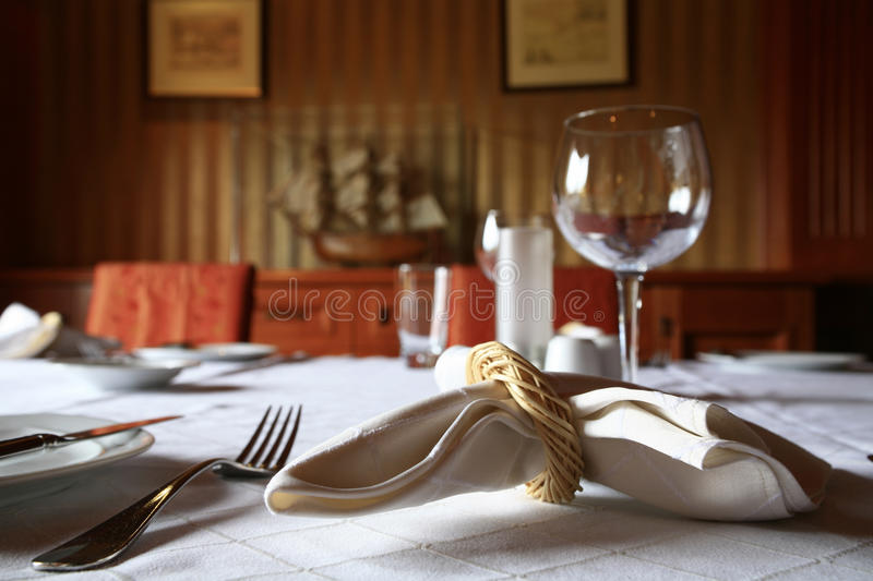 Dinning Table Detail Royalty Free Stock Image