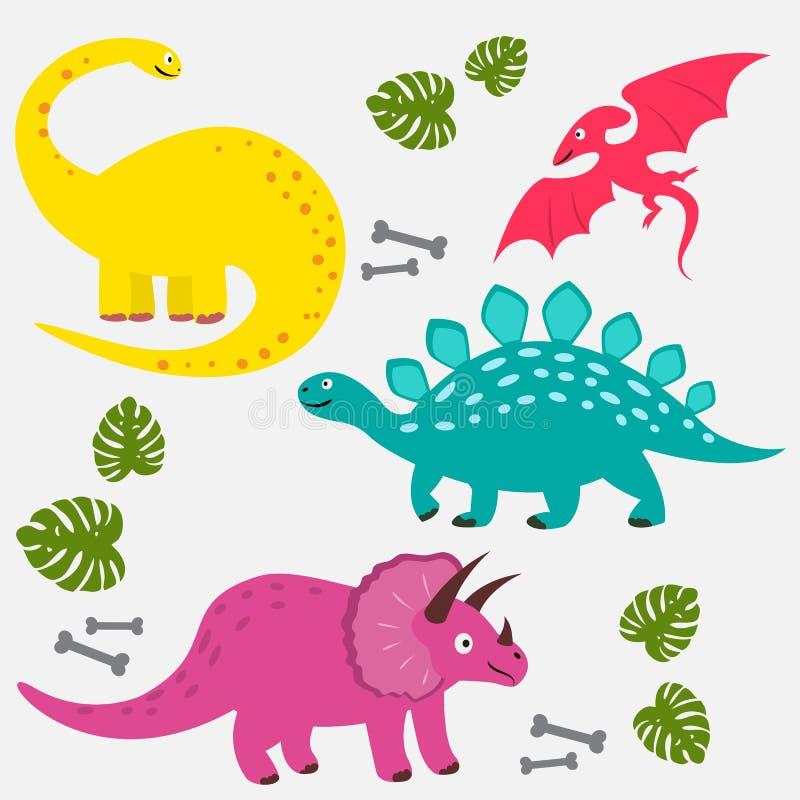 Dino καθορισμένη απεικόνιση αποθεμάτων