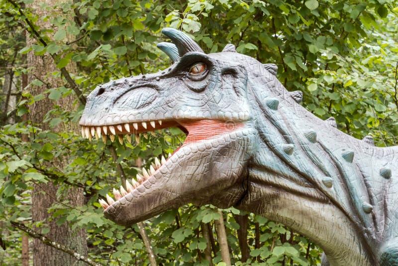 Dino με το ανοικτό στόμα στοκ φωτογραφία με δικαίωμα ελεύθερης χρήσης