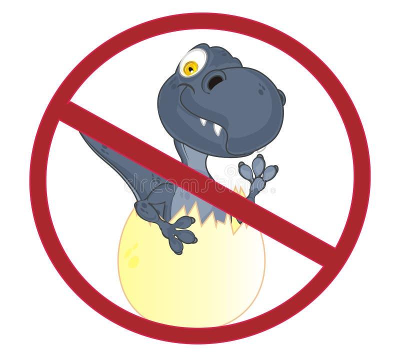 Dino στην απαγόρευση ελεύθερη απεικόνιση δικαιώματος