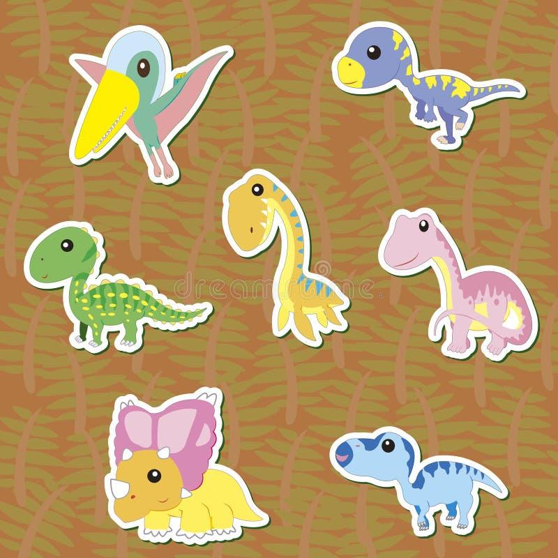 Dino-02 иллюстрация вектора