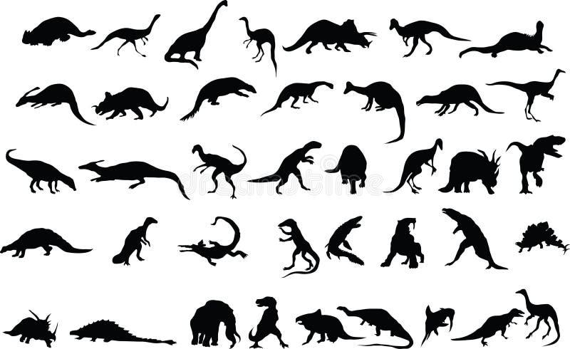 Dino illustration stock