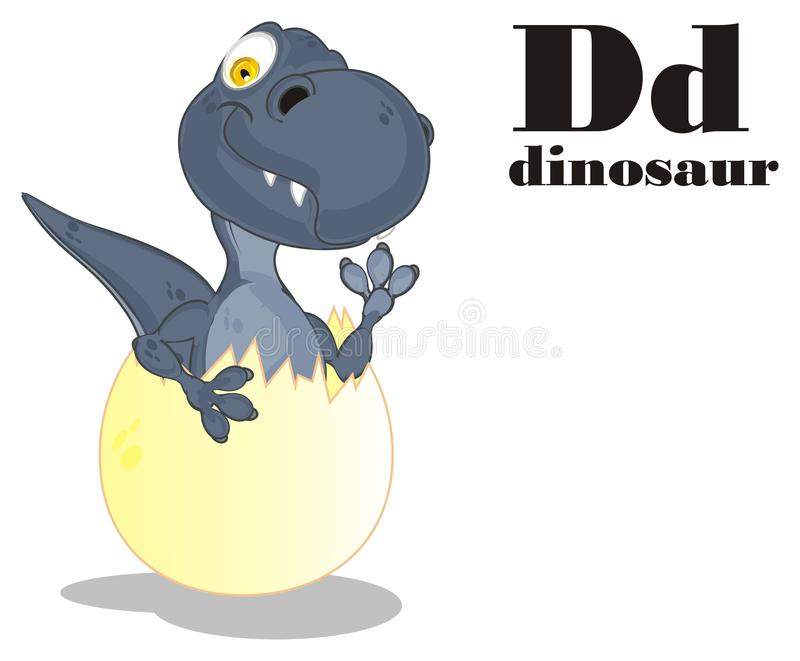 Dino ? abc иллюстрация вектора