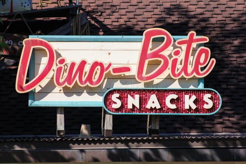 Dino-Biss, Snäcke bei Dinoland am Tierreich, Orlando Florida lizenzfreie stockfotografie