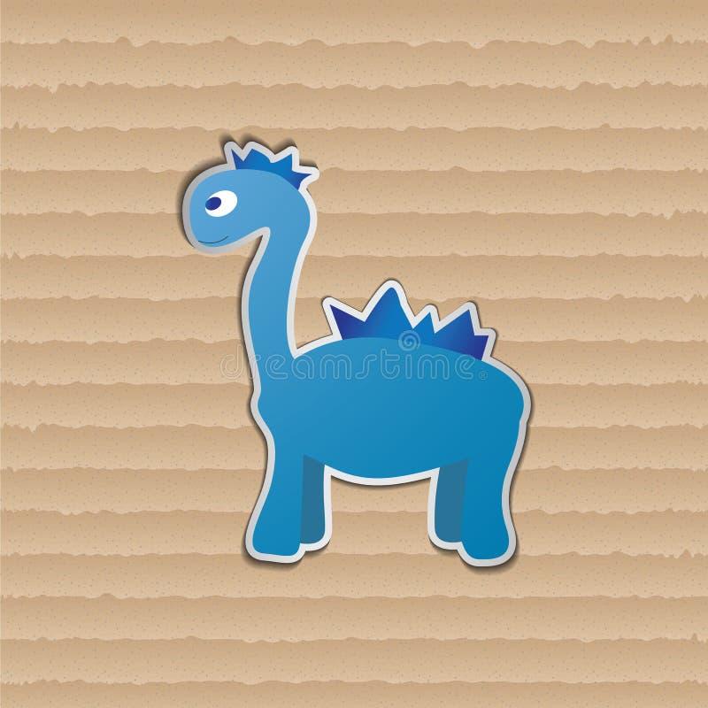 Dino bleu illustration stock