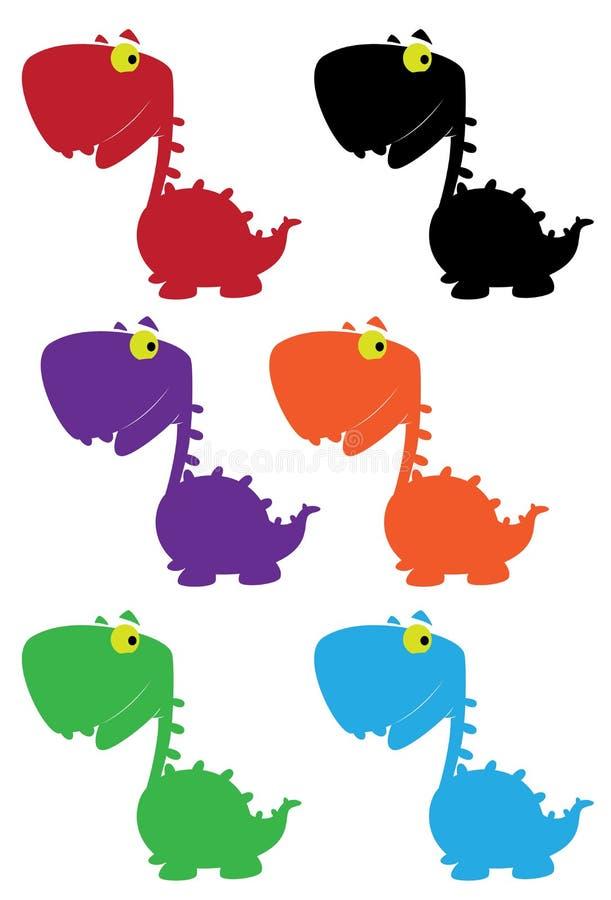 Download Dino cartoon cute color stock vector. Image of lizard - 23379640