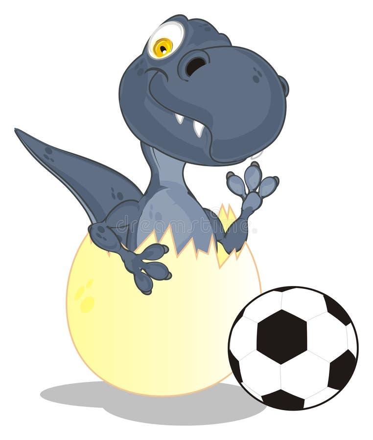 Dino et le football illustration libre de droits