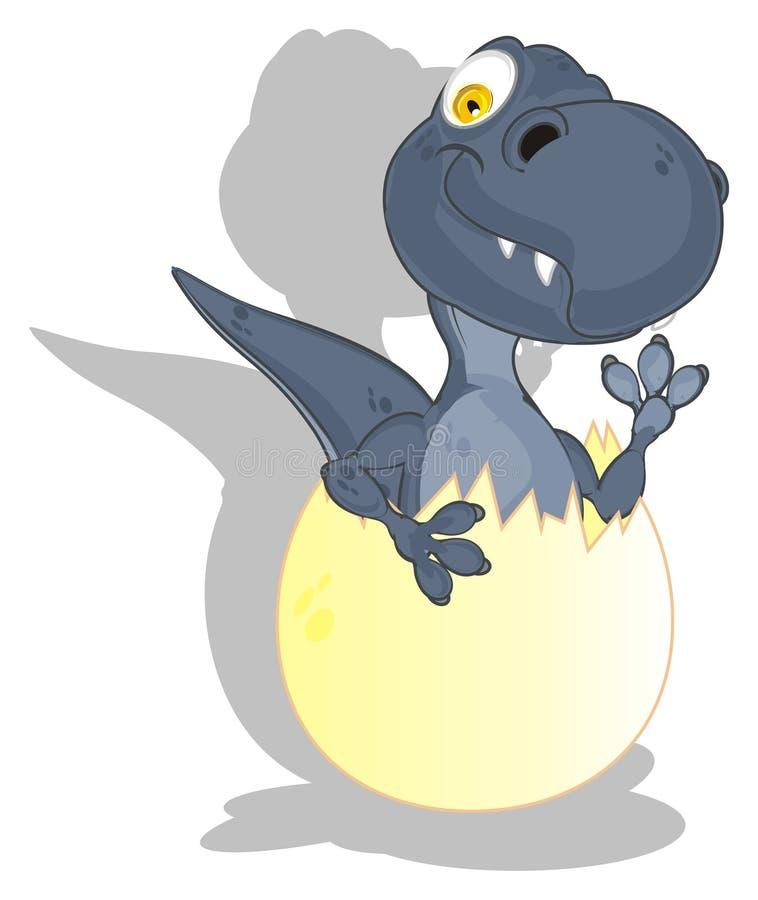 Dino et ombre illustration stock