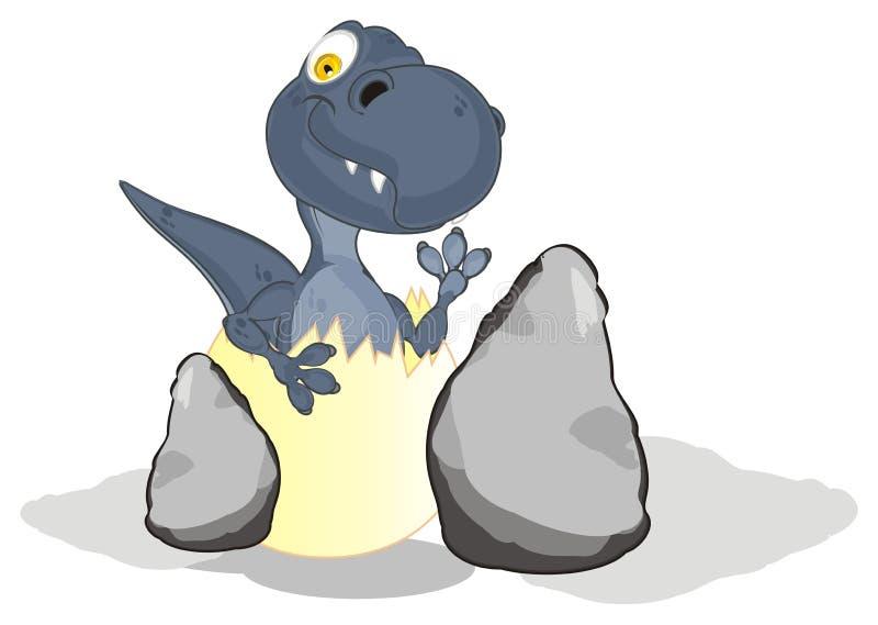 Dino et pierres illustration libre de droits