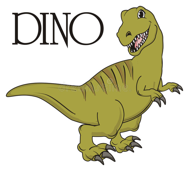 Dino and his name vector illustration