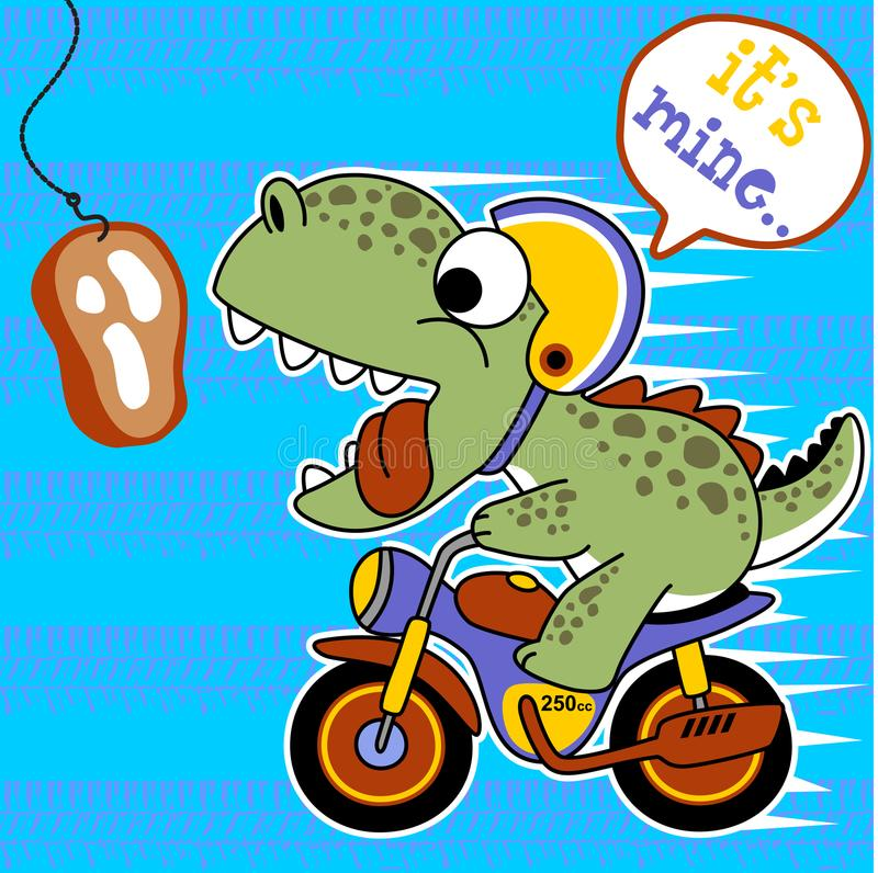 Biker cartoon vector stock illustration