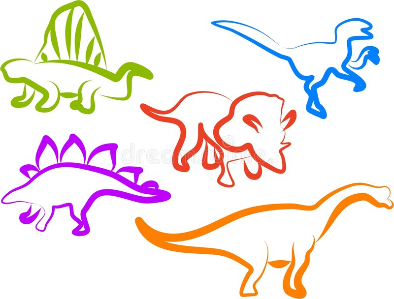 Download Dino Icons stock vector. Image of triceratops, back, symbols - 199494