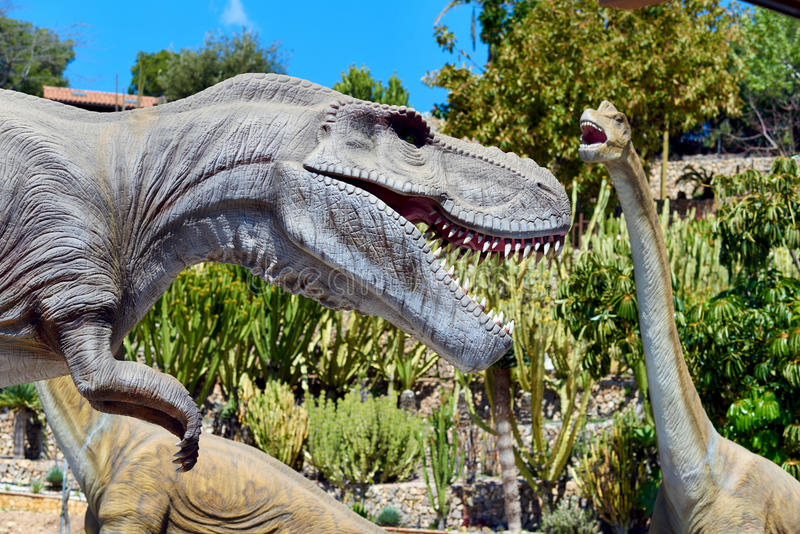 Dino Park av Algar spain royaltyfri foto