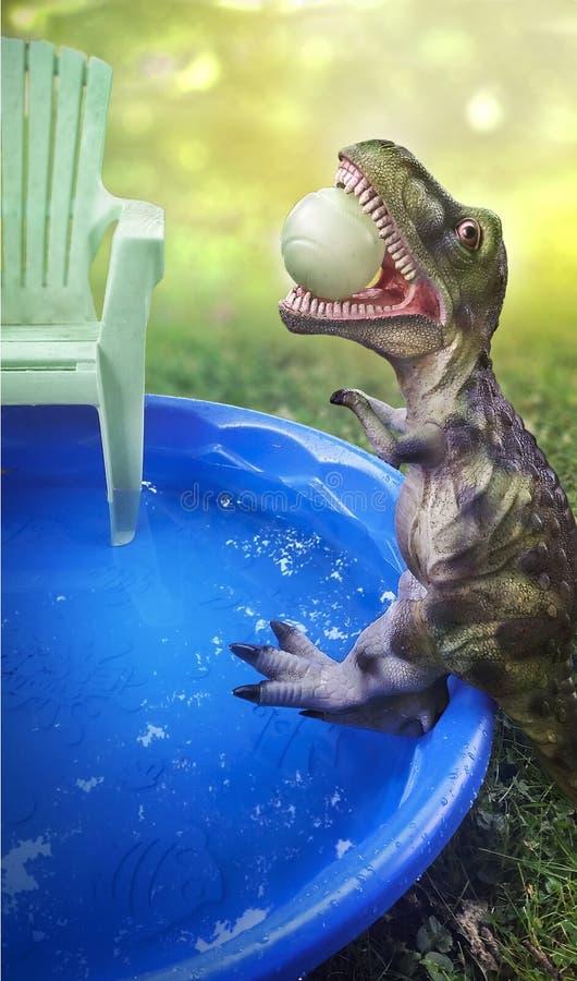 Dino Pool Party stock photo