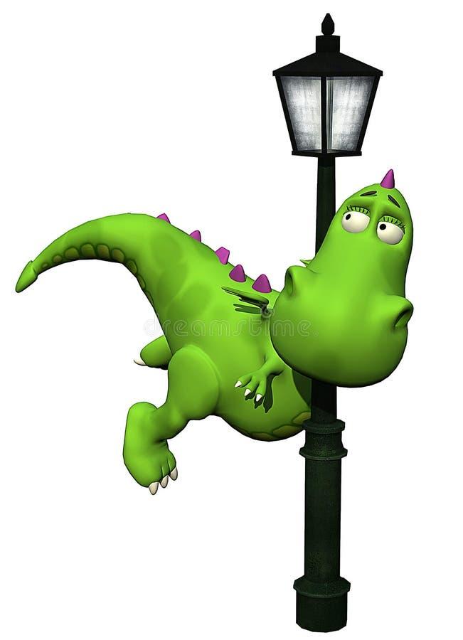 Download Dino shy baby dragon stock illustration. Image of dragon - 14465329
