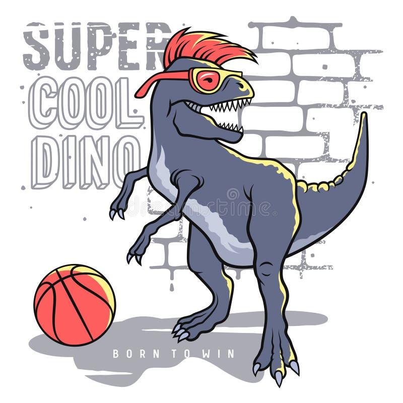 Dino sportif 009 illustration stock