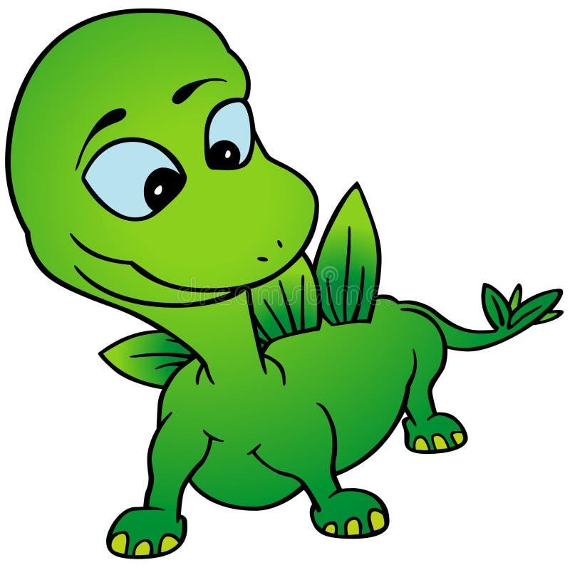 Dino verde stock de ilustración