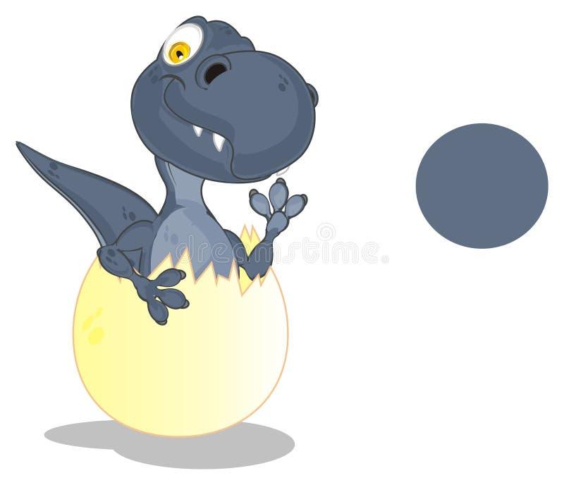 Dino y muestra limpia ilustración del vector
