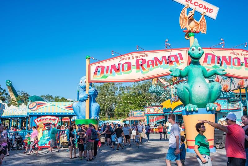 DinoLand U S a au règne animal chez Walt Disney World photographie stock libre de droits