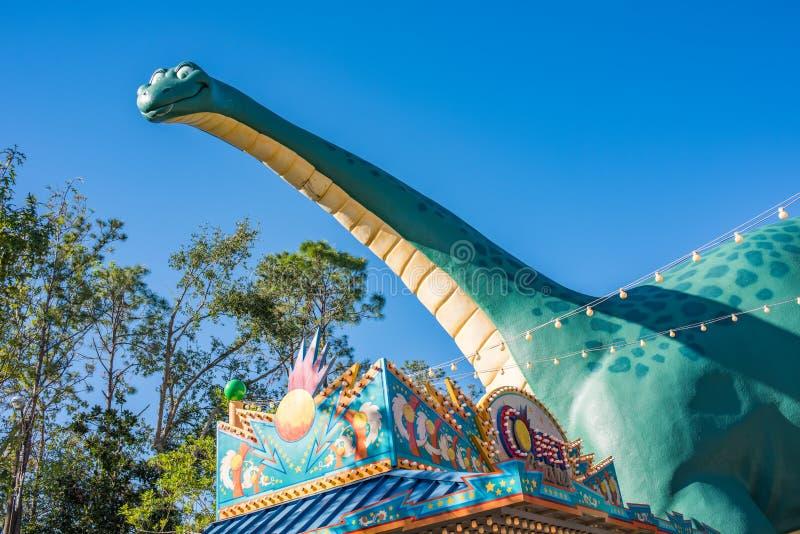 DinoLand U S a au règne animal chez Walt Disney World images libres de droits