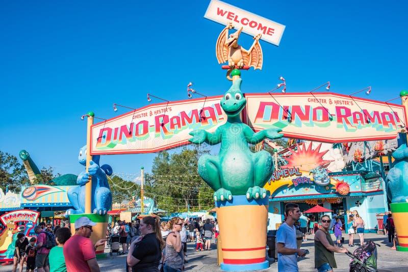 DinoLandu S A bij het Dierenrijk in Walt Disney World stock foto