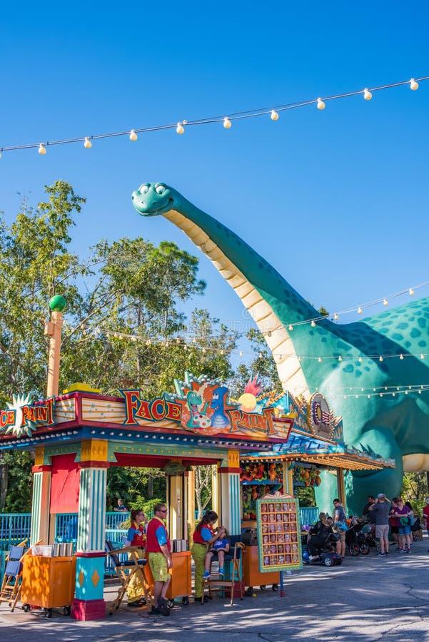 DinoLandu S A bij het Dierenrijk in Walt Disney World royalty-vrije stock foto's