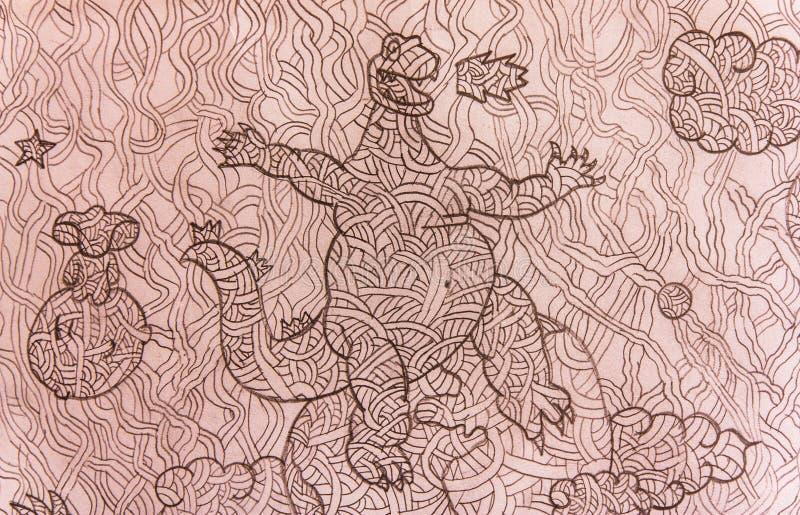dinorsaur图画  免版税库存图片
