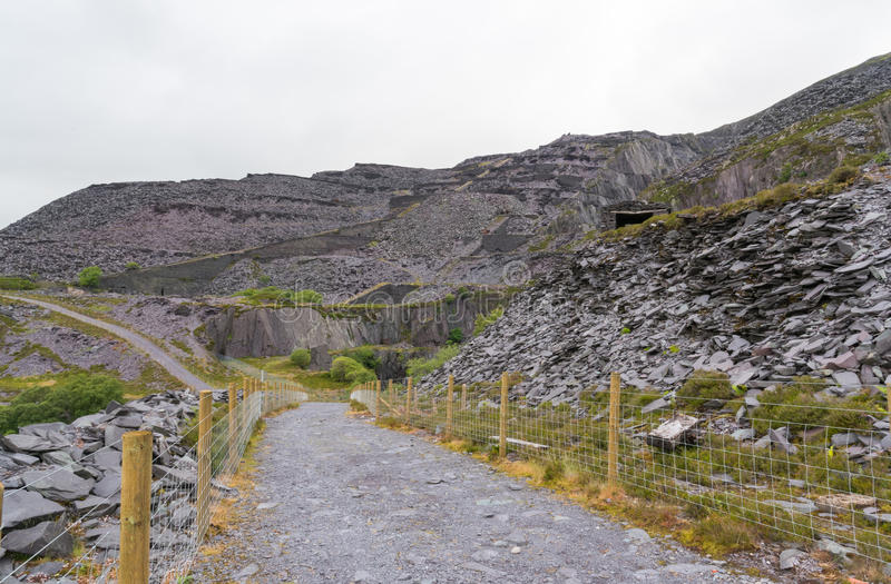 Dinorwig-Schiefergrube stockbilder