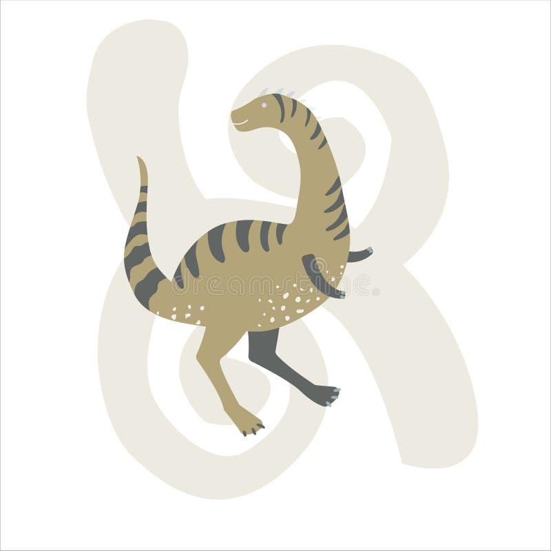 Vector Illustration Of Lizard In Cartoon Style Stock