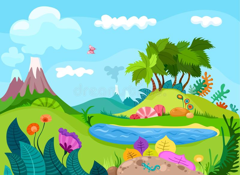 Dinos Landscape vector illustration