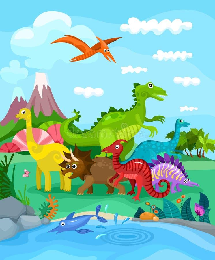 Dinos vector illustration