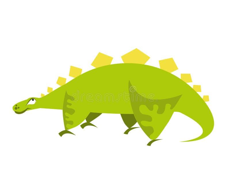 dinosaur śliczna zieleń kreskówka Dino również zwrócić corel ilustracji wektora ilustracja wektor