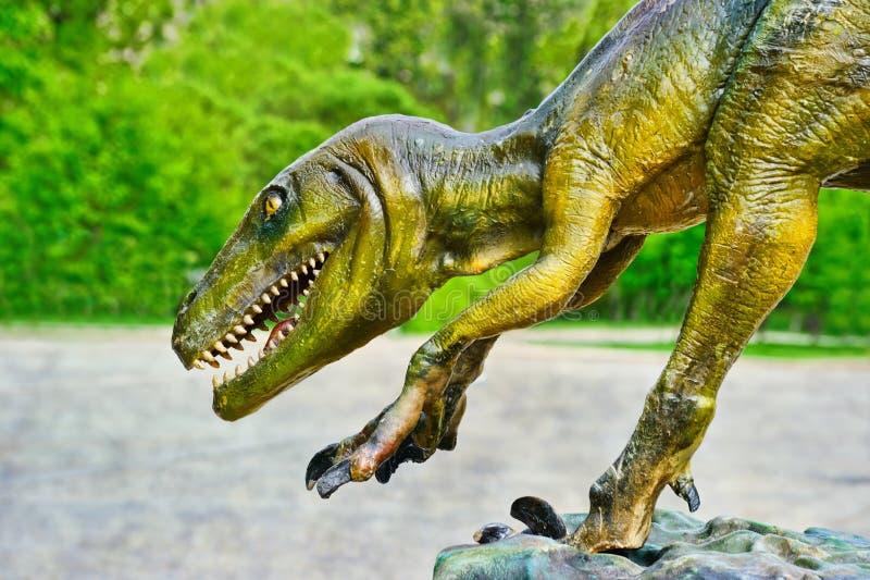 Dinosaur. Statue of Dinosaur in nature stock image