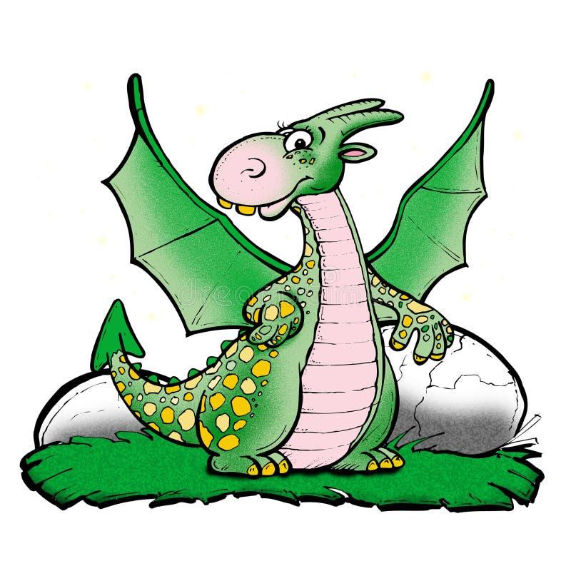Dinosaur illustration stock