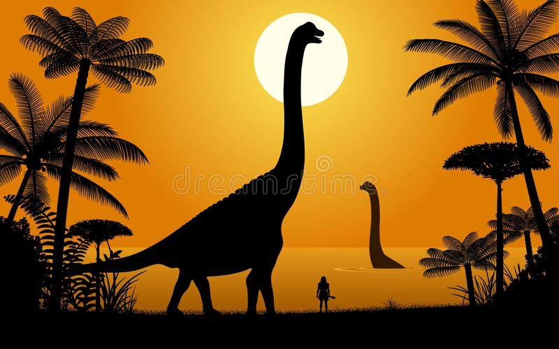Dinosaur - Abydosaurus stock illustration