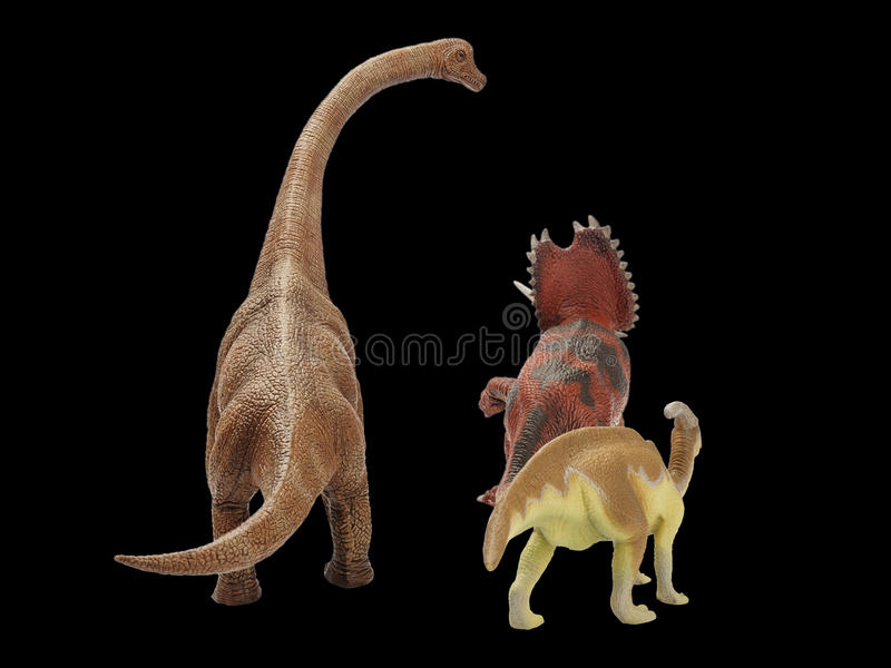 Dinosaur. Action in black background royalty free stock photos