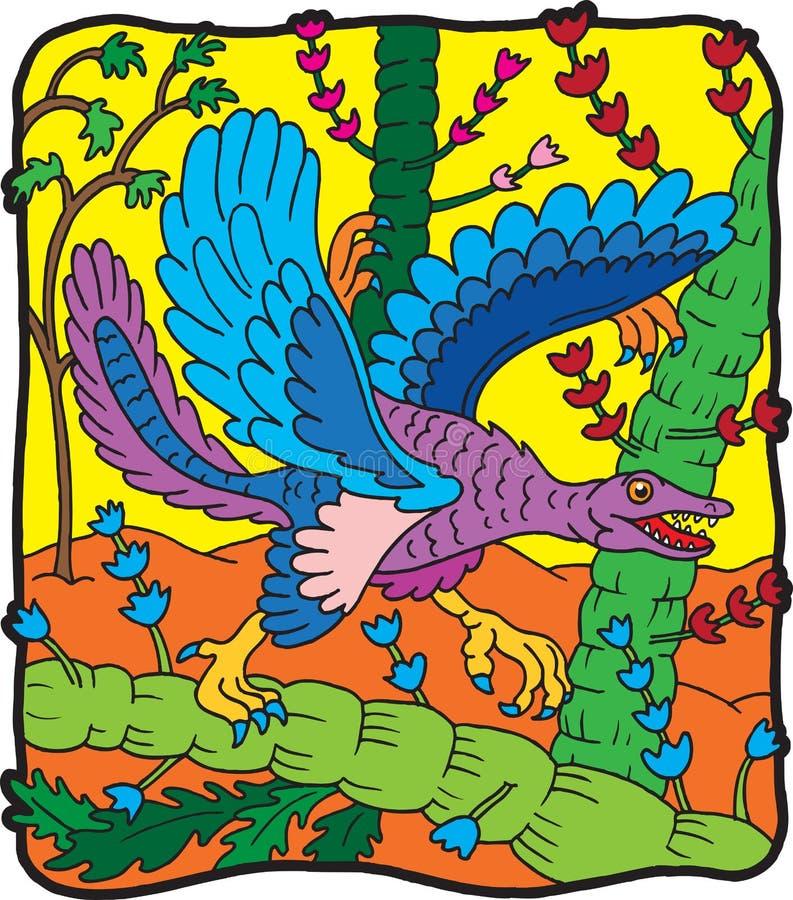 Dinosaur Archeopterio illustration de vecteur