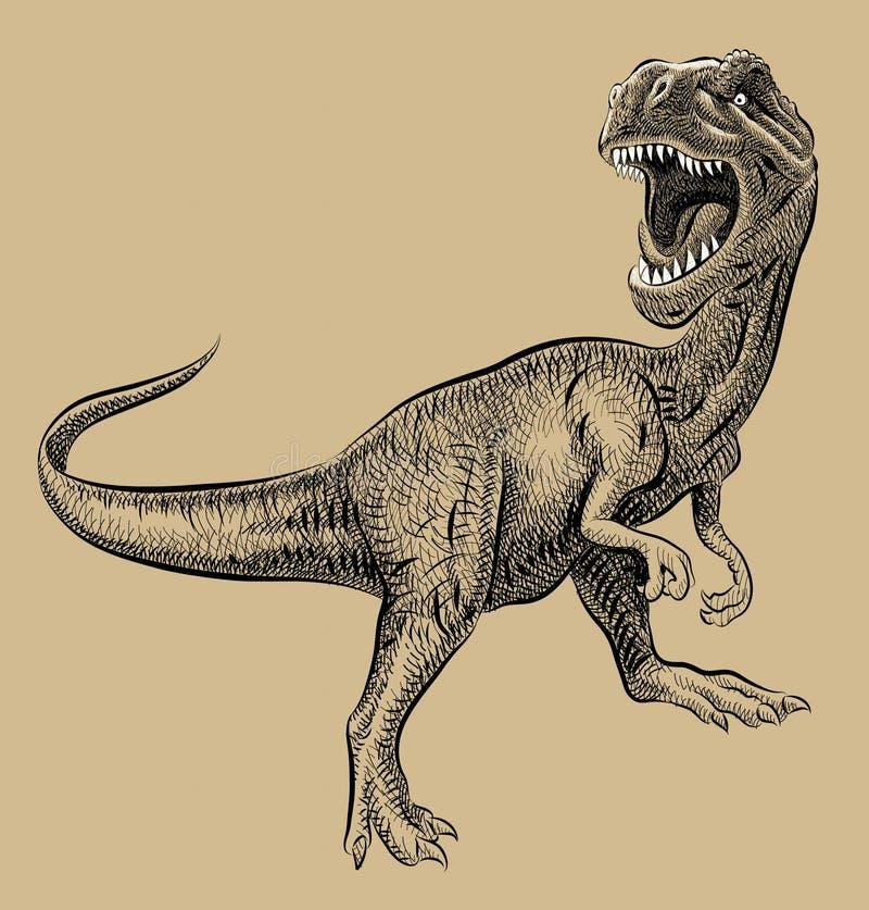 Line Art Dinosaur : Dinosaur artistic drawing stock photos image
