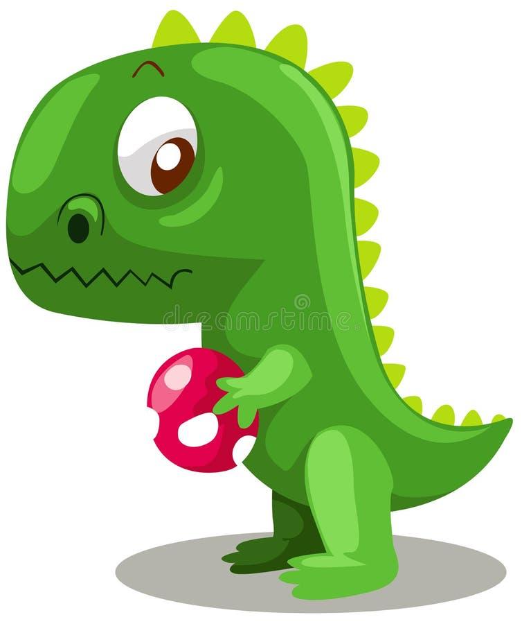 Dinosaur avec l'oeuf illustration stock