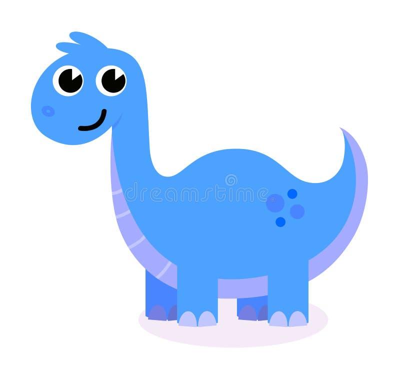 Dinosaur bleu mignon illustration de vecteur
