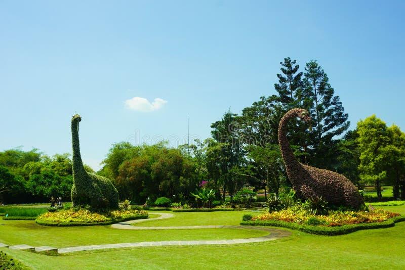 Dinosaur brontosaurus in the forest green garden - bogor indonesia. Dinosaur brontosaurus in the forest green garden - bogor royalty free stock photography