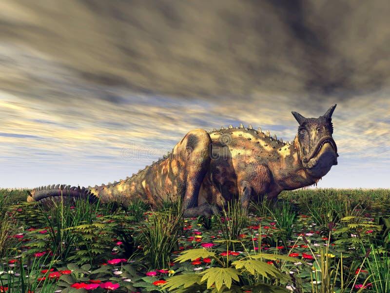 Dinosaur Carnotaurus. Computer generated 3D illustration with the Dinosaur Carnotaurus stock illustration